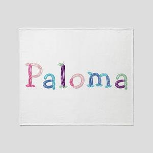 Paloma Princess Balloons Throw Blanket
