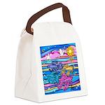 Siamese Betta Fish Canvas Lunch Bag