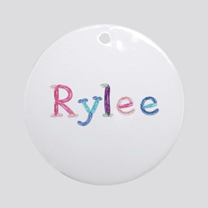 Rylee Princess Balloons Round Ornament