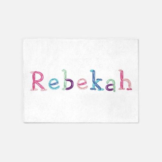 Rebekah Princess Balloons 5'x7' Area Rug