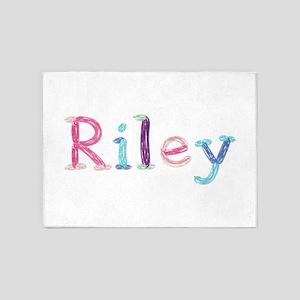 Riley Princess Balloons 5'x7' Area Rug