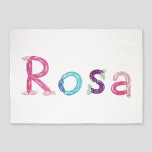 Rosa Princess Balloons 5'x7' Area Rug