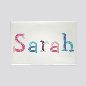 Sarah Princess Balloons Rectangle Magnet