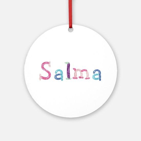 Salma Princess Balloons Round Ornament