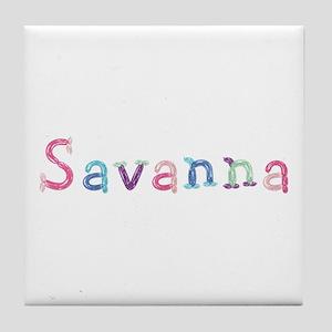 Savanna Princess Balloons Tile Coaster
