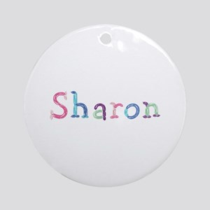 Sharon Princess Balloons Round Ornament
