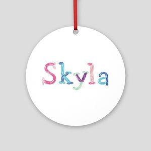 Skyla Princess Balloons Round Ornament