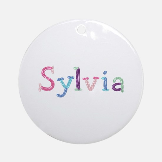 Sylvia Princess Balloons Round Ornament