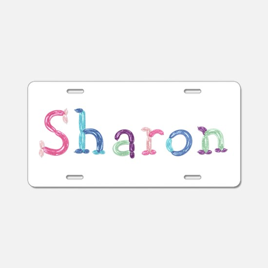 Sharon Princess Balloons Aluminum License Plate