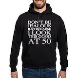 Funny 50th birthday men Dark Hoodies