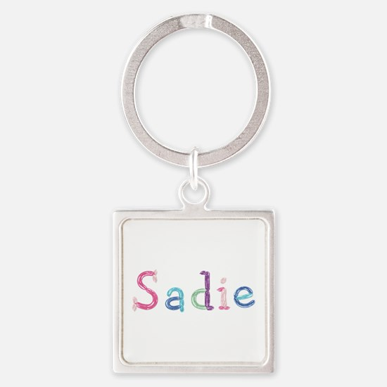 Sadie Princess Balloons Square Keychain
