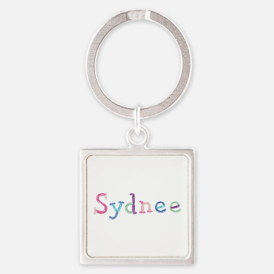 Sydnee Princess Balloons Square Keychain