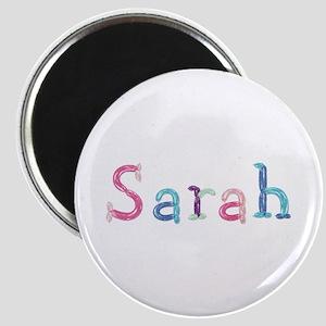 Sarah Princess Balloons Round Magnet
