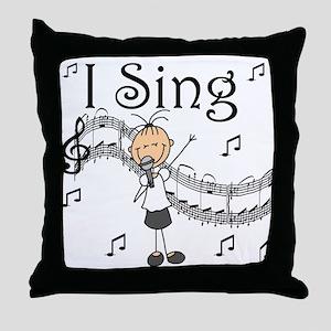 I Sing (FEMALE) Throw Pillow