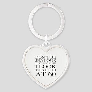 60th Birthday Jealous Heart Keychain