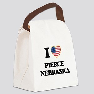 I love Pierce Nebraska Canvas Lunch Bag