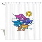 Siamese Betta Fish #2 Shower Curtain