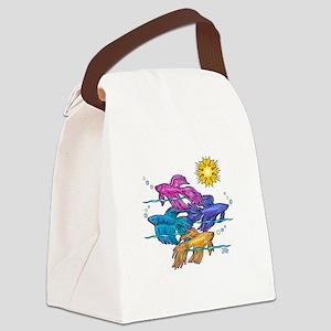 Siamese Betta Fish #2 Canvas Lunch Bag