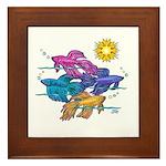 Siamese Betta Fish #2 Framed Tile