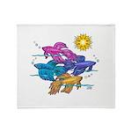 Siamese Betta Fish #2 Throw Blanket