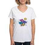 Siamese Betta Fish #2 Women's V-Neck T-Shirt