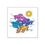 Siamese Betta Fish #2 Square Sticker 3