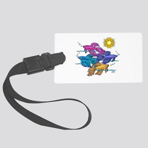 Siamese Betta Fish #2 Large Luggage Tag