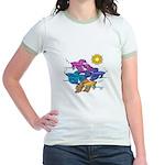 Siamese Betta Fish #2 Jr. Ringer T-Shirt