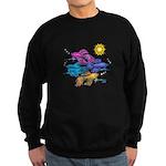 Siamese Betta Fish #2 Sweatshirt (dark)