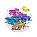 Siamese Betta Fish #2 Button