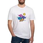 Siamese Betta Fish #2 Fitted T-Shirt