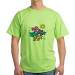 Siamese Betta Fish #2 Green T-Shirt