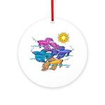 Siamese Betta Fish #2 Ornament (round)