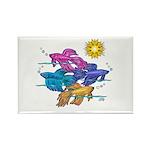 Siamese Betta Fish #2 Rectangle Magnet (100 pack)