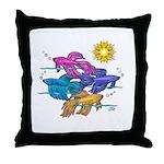 Siamese Betta Fish #2 Throw Pillow