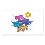 Siamese Betta Fish #2 Sticker (Rectangle 50 pk)