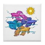 Siamese Betta Fish #2 Tile Coaster