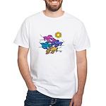 Siamese Betta Fish #2 White T-Shirt