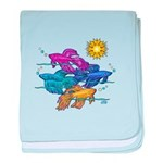 Siamese Betta Fish #2 baby blanket