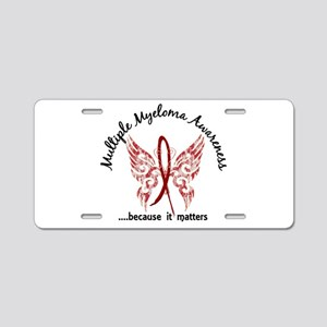 Multiple Myeloma Butterfly Aluminum License Plate