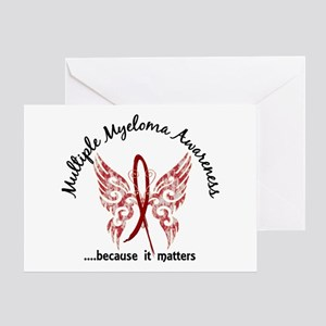 Multiple Myeloma Butterfly 6.1 Greeting Card