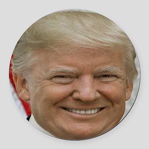 President Donald Trump Round Car Magnet