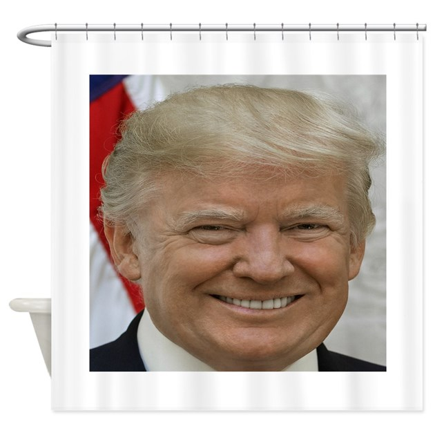 President Donald Trump Shower Curtain By ApprovedTeaPartyMerchandiseStore