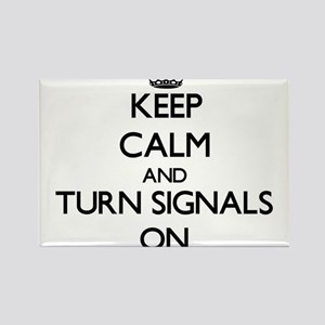Keep Calm and Turn Signals ON Magnets