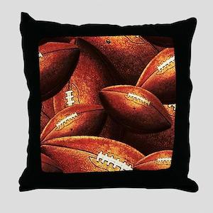 Vintage Footballs Throw Pillow