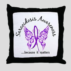 Sarcoidosis Butterfly 6.1 Throw Pillow