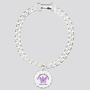 Sarcoidosis Butterfly 6. Charm Bracelet, One Charm