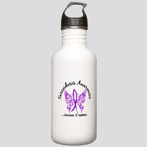 Sarcoidosis Butterfly Stainless Water Bottle 1.0L