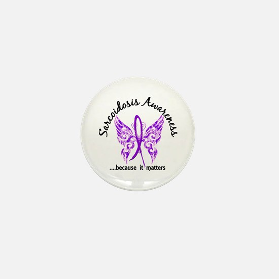 Sarcoidosis Butterfly 6.1 Mini Button
