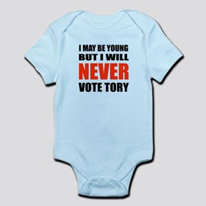 Never Vote Tory (baby) Body Suit